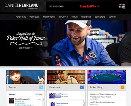 Custom Web Development for Daniel Negreanu
